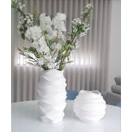 Florero decorativo moderno ondulado