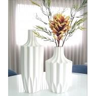 Jarra geométrica de mesa em cerâmica