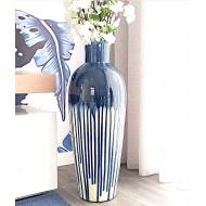 Contemporary waterfall floor vase