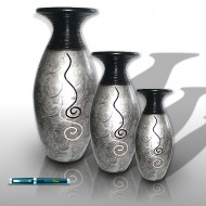 silver vases Indoor decoration