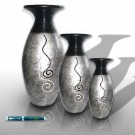 vasi argento decorazione interiori