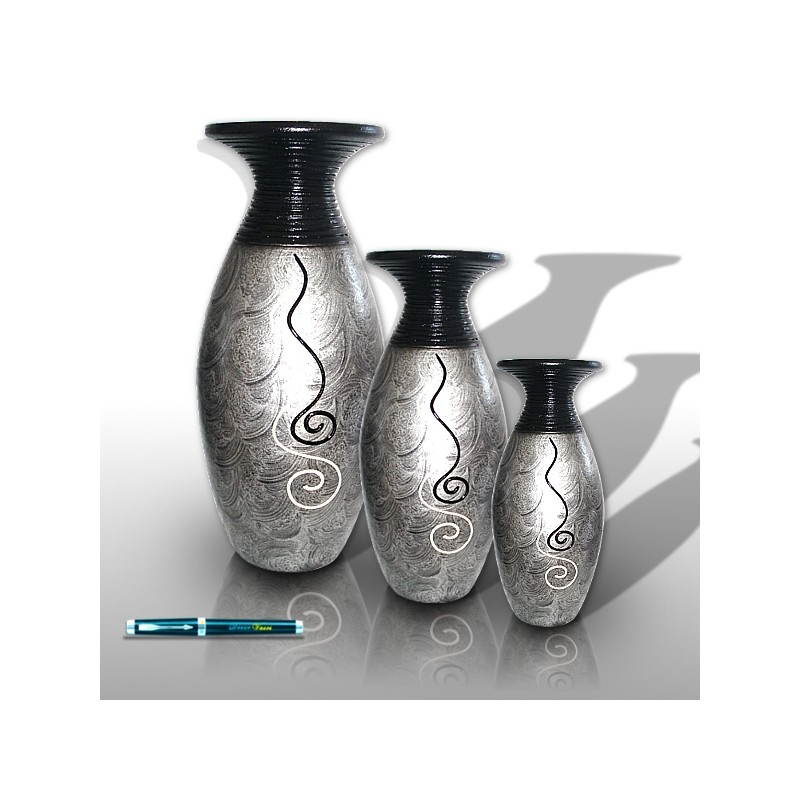 Vases gris decoration interieur decor vases - Vase de decoration interieur ...