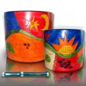 Pot Orchidée céramique inca