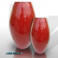 Glazed barrel vases