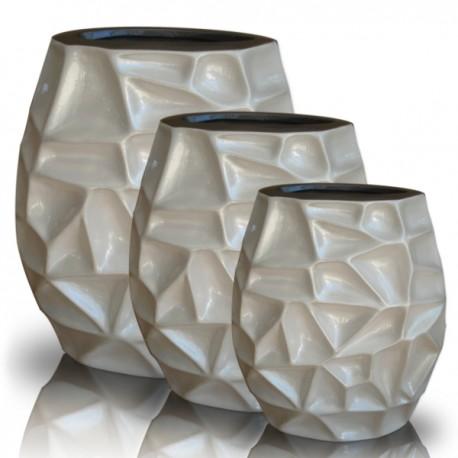 Tris di vasi in ceramica astratta