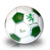 alcancía balón del Sporting