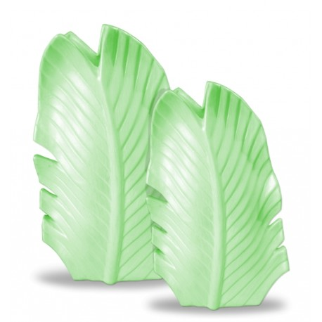 Leaf vases green