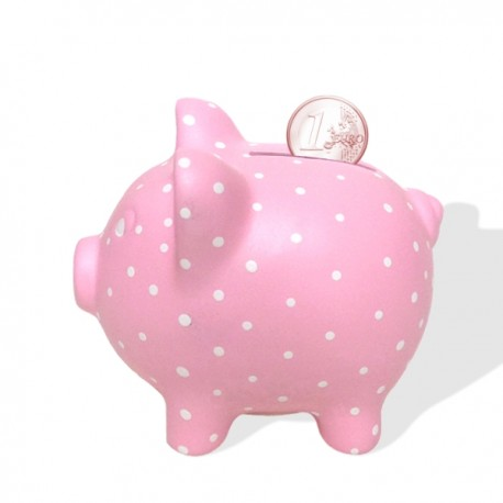Porquinho mealheiro cor de rosa