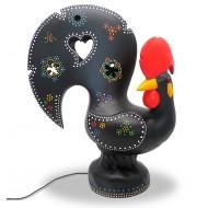 Lámpara de Galo de Barcelos gallo negro tradicional de portugal