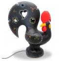 lampe de coq de barcelos noir