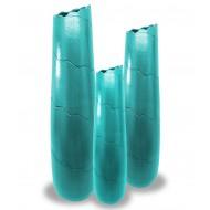 Vase en céramique avec des vagues