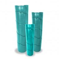 Vaso de cerâmica com ondas
