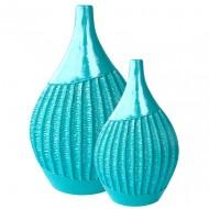 Vases océan ondulé