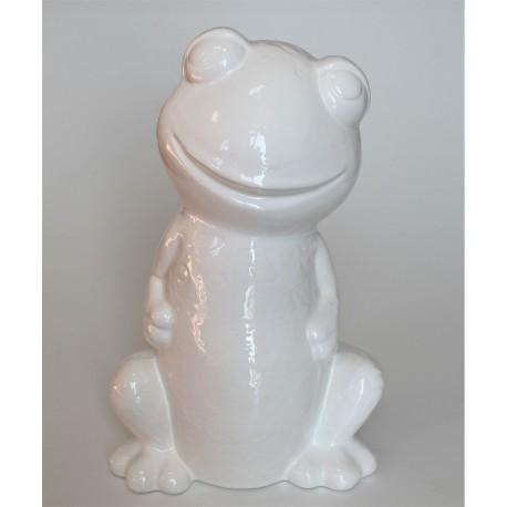 Frog figurine in ceramic
