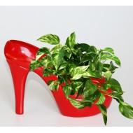Dekorativer Schuh aus Keramik Blumenvase Schuh