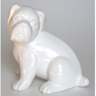 Dog figurine in ceramic