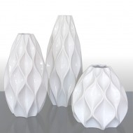florero geométrico en cerámica