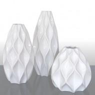 Jarrón de cerámica geométrica Jarrón de mesa
