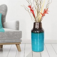 Modern table vase turquoise for flowers