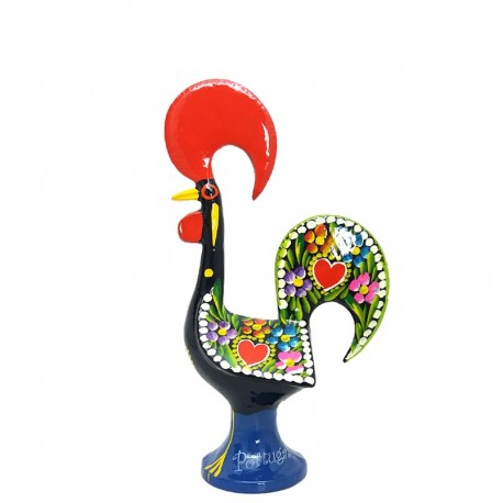 Gallo de Barcelos negro, gallo tradicional de Portugal