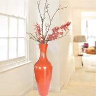 florero grande rojo