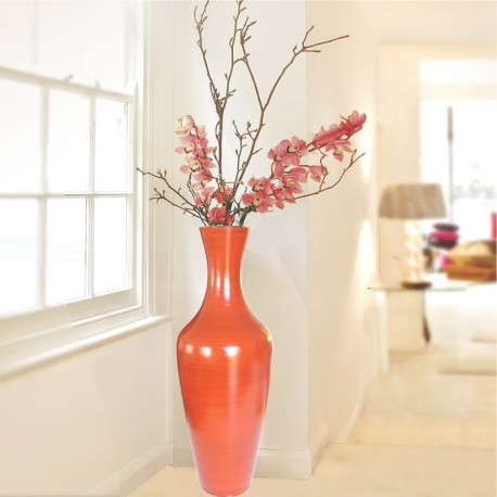 Tall terracotta vase