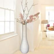 Terrakotta Wellen Vase