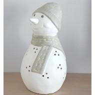 candelero muñeco de nieve
